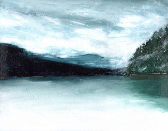 Fine Art Landscape Print for Wall art Moody Pacific Northwest Mountain Landscape